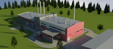 Heating, Electrical and Cooling Station, 2.3MW(e), 13MW(heat), 0.7MW(cool)