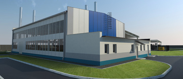 Hot Boiler plant with Gas turbine, 3 MW(e), 22 MW(h)